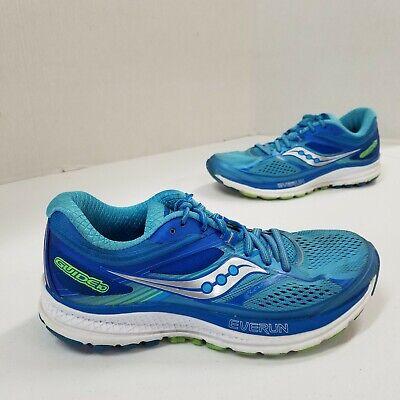 Running Shoes Green Blue training