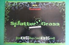 KAWASAKI MOTO 2009  KX65 KX85 MINICROSS CATALOGO BROCHURE CATALOG  DEPLIANT