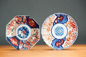 Nice!19th Japanese Imari Meiji Bird & Flower Charger Plate Japan