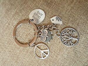Tree-of-Life-Bird-Peace-Keychain-Keyring-Keyholder-Charm-Gift-Live-Laugh-Love