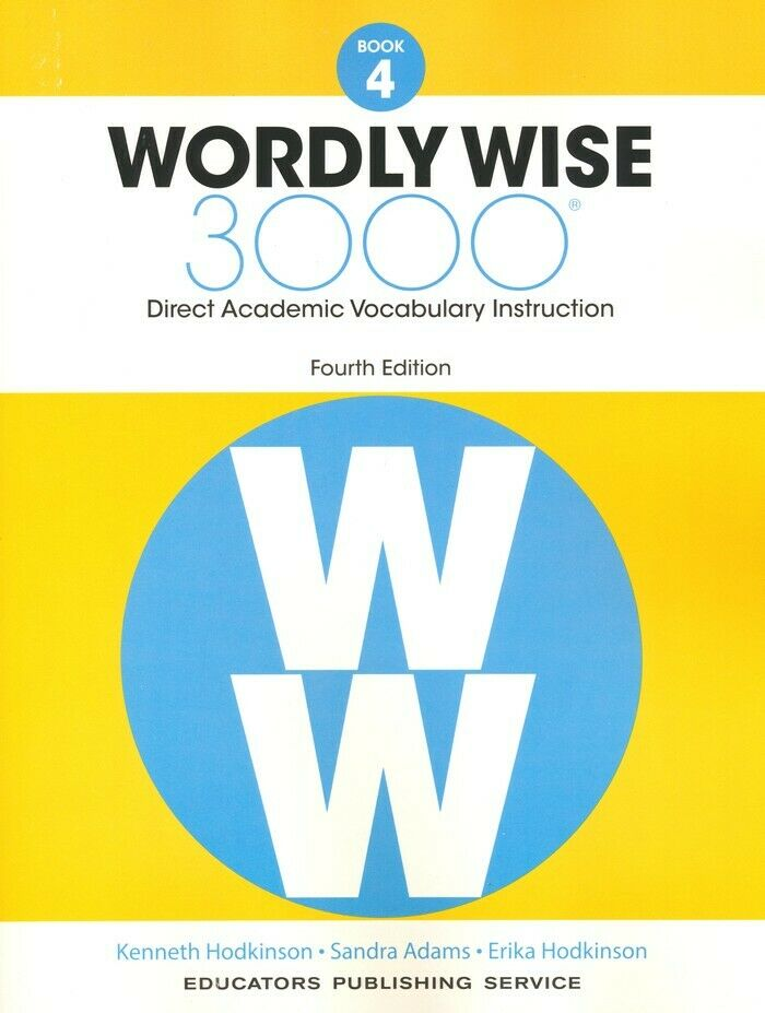 4th Edition Wordly Wise 3000 Grade 4 Student