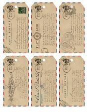 French Post Card ~ Card Toppers / Tags / Scrapbooking / Card Making