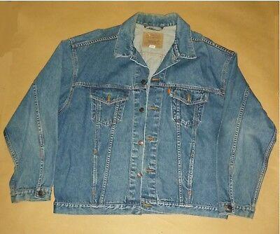 Fashion Style Vintage Levis - Levi Straus 1990's Original Blue Jean Jacket – 70511 0289 - Xl Eccellente Nell'Effetto Cuscino