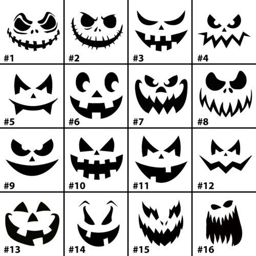 Pumpkin Faces vinyl decal sticker for Car//Truck Window halloween decor wall plat