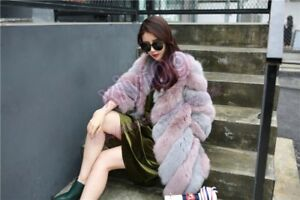 New Mid Casual Coat Faux Damer Fashion Party Style Womens Fur Varm Outwear 1BBHASqwW