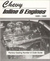 1929 - 1989 Chevy Gmc 302, 292, 270, 261, 250, 248, 235, 230 Inline 6 Engines