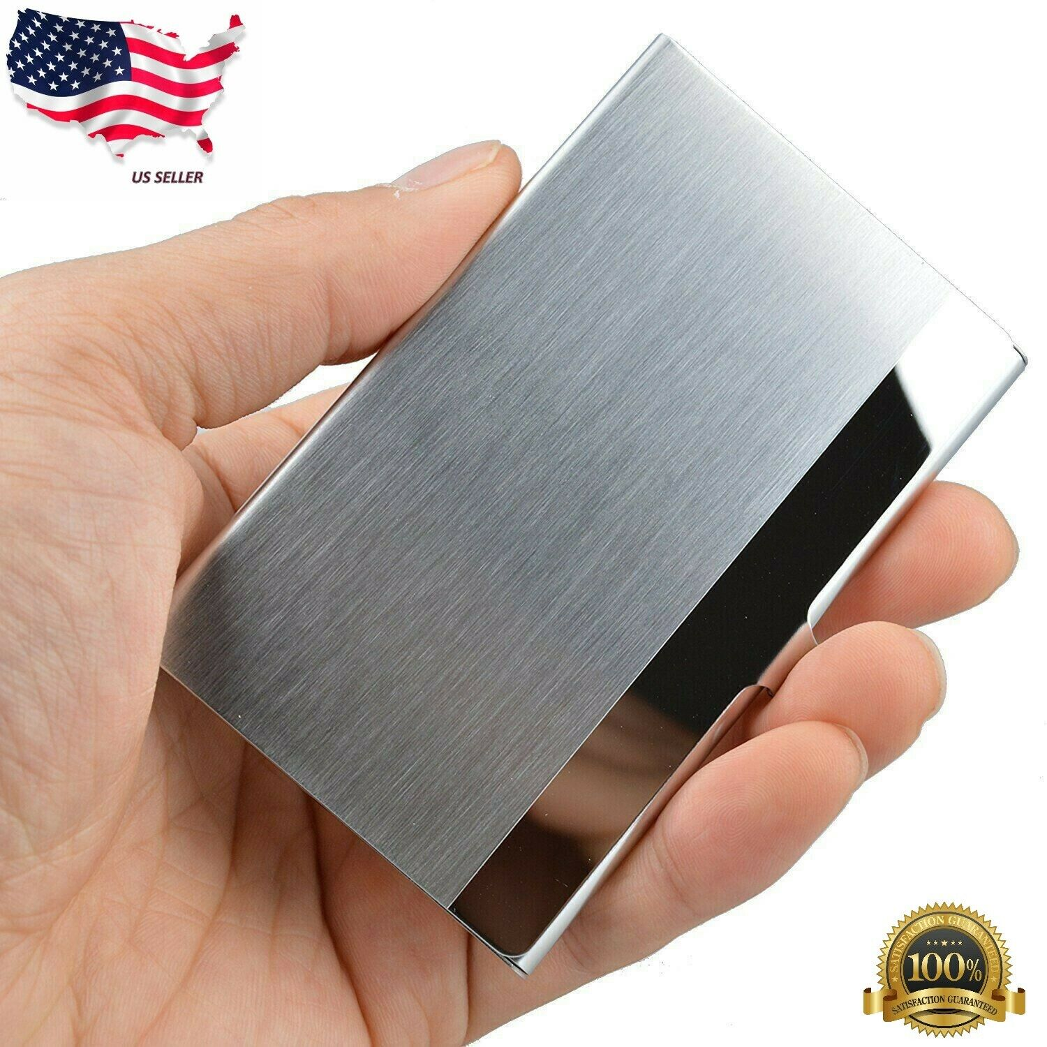 Black liangdongshop Business Name Card Holder Luxury Aluminum Slide Out Multi Card Case Credit Card ID Case