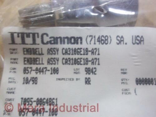 ITT Cannon Electric CA06R18-1S-A71 Connector With CA3106E18-A71
