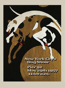Dog Great Dane German Mastiff 1957 New York Show Vintage Poster