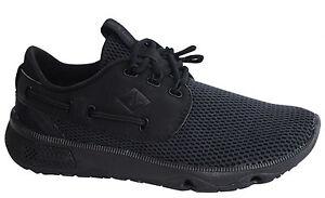 U16 Malla Zapatillas Sts15532 Negra Seas 7 Hombre Sperry Cordones Textil nqwxzBptZT