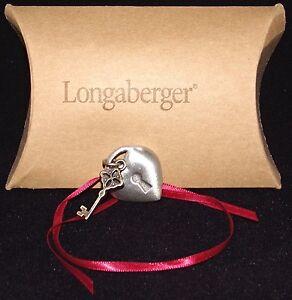 Longaberger Key To My Heart Tie On