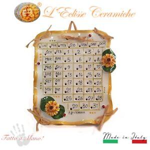 Calendario-in-Ceramica-di-Vietri-Artigianale-Made-in-Italy-Bomboniera-Girasoli