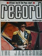 RECORD MIRROR 21/7/84 - MICHAEL JACKSON - DURAN DURAN - CYNDI LAUPER