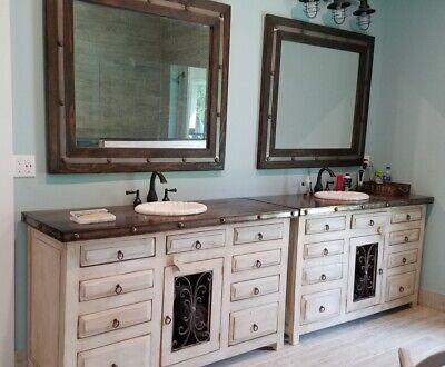 Rustic Saint Andrew Bathroom Vanity White Washed Reclaimed Wood Ebay