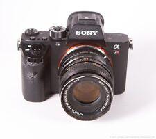 KONICA HEXANON 50mm f/1.7 Manual Focus Lens +Sony E-Mount Adapter a6000 a7 NEX