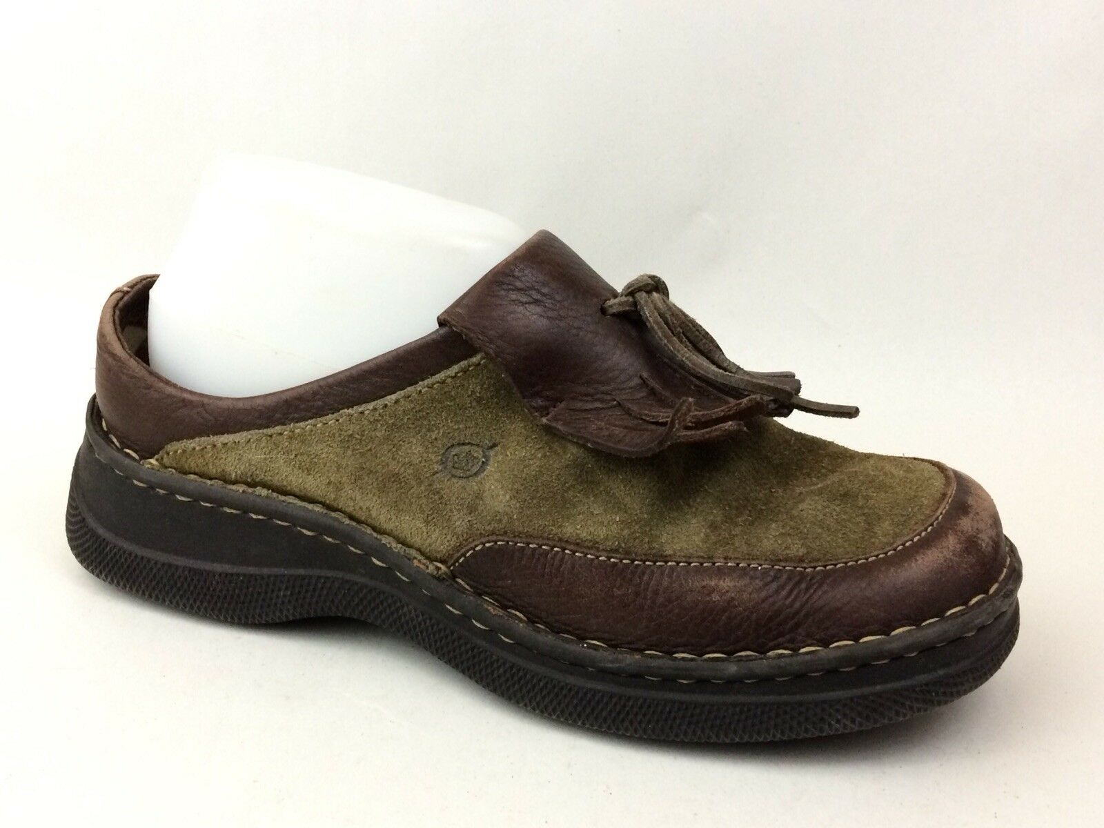 Women's Shoes Born Brand Women Us Size 6 Shoe Clog Mule Leather Upper Eur 36.5 Open Back Modern And Elegant In Fashion