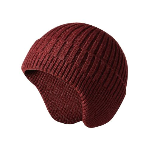 Women Men Winter Warm Beanie Knitted Skull Cap With Ear Flaps Earflap Hat Unisex