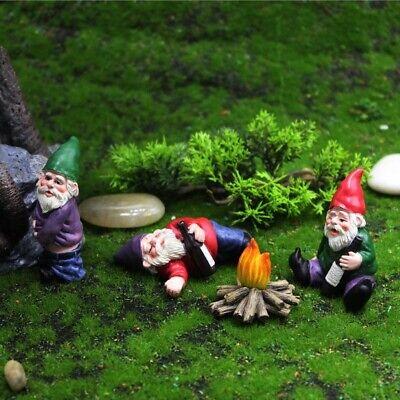 Mini Garden Gnome Figurines Resin Fairy Garden Funny Miniature Gnomes Elf Figure