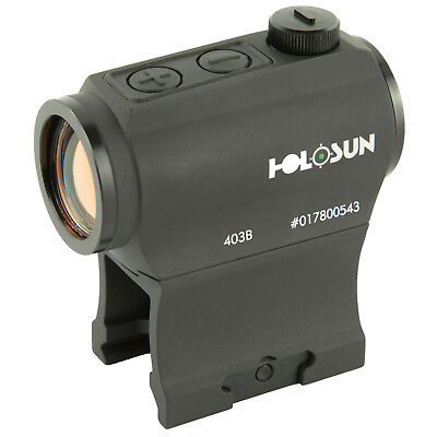 Holosun Technologies 2 MOA Red Dot Sight Dual Reticle Option Solar Black HS515BU