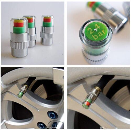 4X Car Auto Bike Tire Monitor Valve Dust Cap Pressure Indicator Sensor Eye Alert