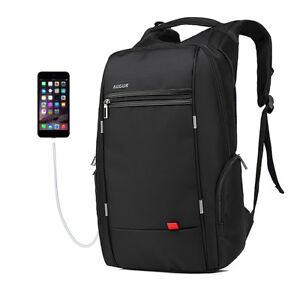 7062d3f8c1 Men s Travel Backpack USB Charging Port Nylon Bookbag Daypack School ...