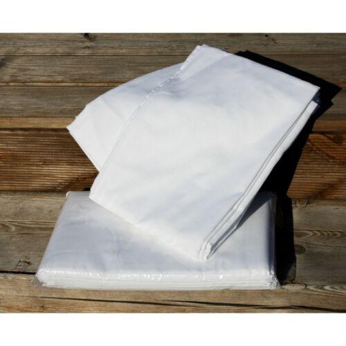 Bettlaken Betttuch ohne Gummizug 150x250 cm weiß aus 100/% Baumwolle ca 140g m²