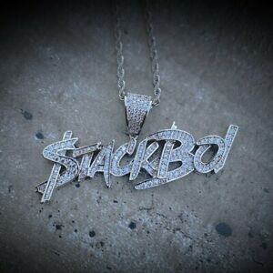 2-80Ct-Round-Cut-Diamond-Stackboi-Pendant-Fully-Iced-Out-14K-White-Gold-Finish