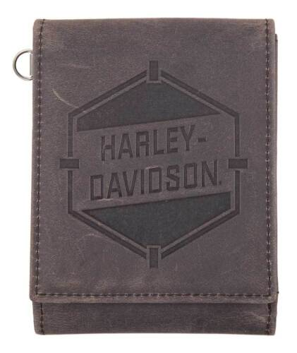Harley-Davidson Men's Spare Parts Z Fold Wallet w/ RFID, Brown HDMWA11096