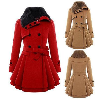 Women's Warm Winter Overcoat Long Parka Jacket Cotton Coat Hooded Trench Outwear