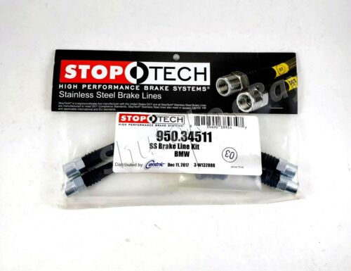 STOPTECH STAINLESS STEEL SS BRAIDED REAR BRAKE LINES FOR 93-97 VOLVO 850