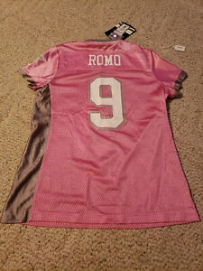 Details about Tony Romo Pink Womens Size Small Jersey 9 Dallas Cowboys Screen Print NWT