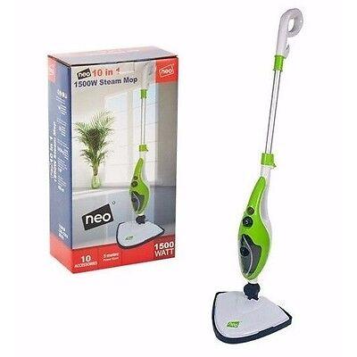 10 in 1 1500W Neo¨ Hot Steam Mop Cleaner Floor Carpet Window Washer Hand Steamer
