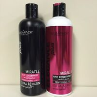 Elegance Plus Miracle Hair Shampoo/conditioner 17.6 Oz (with Extra Keratin)
