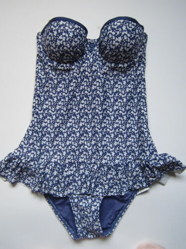 FROST FRENCH FLOOZIE BLUE DITSY PRINT 2 WAYS TO WEAR SWIMSUIT BNWOT