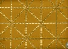 Arc/com Intersect Golden Geometric Shapes Squares Triangles Upholstery Fabric