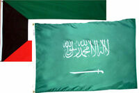 3x5 3'x5' Wholesale Combo Set Kuwait & Saudi Arabia 2 Flags Flag