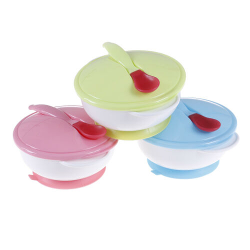 Baby feeding suction bowl set slip-resistant tableware with sensing spoon  ZSHWC