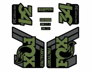 FOX 36 Float 2018-19 Forks Suspension Factory Decal Sticker Adhesive Olive