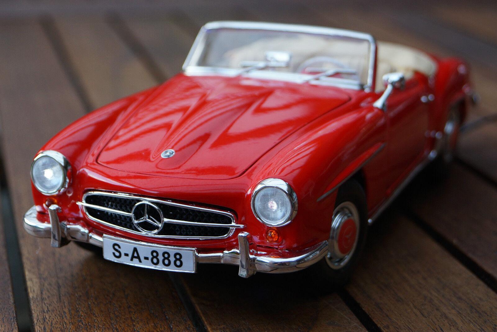 1955 Mercedes-Benz 190  SL 1 18 with LED lumièreing (Xenon) rouge Maisto Maisto  plus abordable