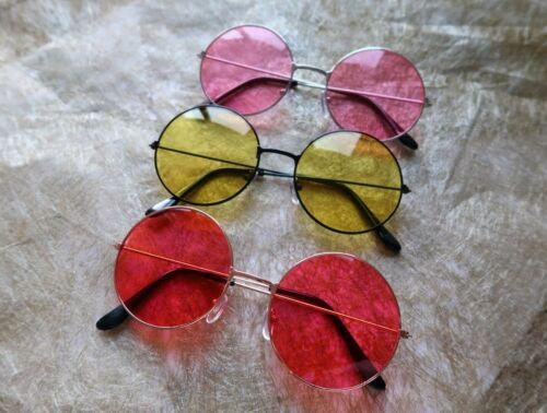 Hippy Hippie Glasses 60s 70s John Lennon Round Ozzy Granny Fancy Dress Costume