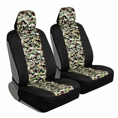 Cool Camo Shark Pattern Sideless Front Car Truck Seat Cover Set With Headrest Covers Ebay Dailytribune Chair Design For Home Dailytribuneorg