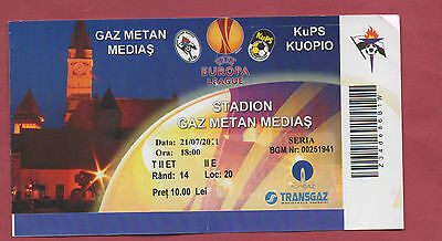 Orig.ticket Europa League 11/12 Gaz Metan Medias - Kuopio Ps !! Selten