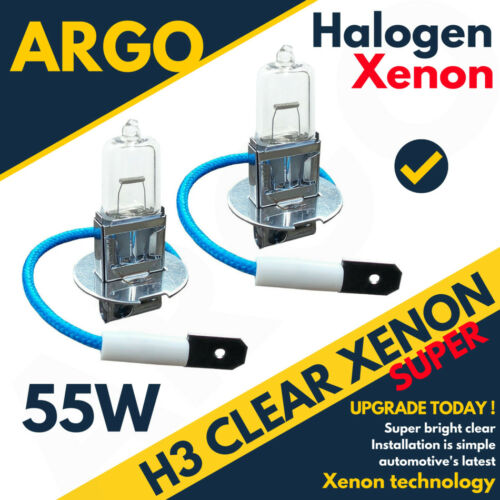 H3 55w Brillante Xenon Faro Niebla Lámparas Halógenas claro 453 Spot Luz 12v Bombillas