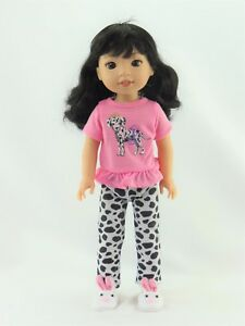 """Owl Love Pant Set Fits Wellie Wishers 14.5/"""" American Girl Clothes"""