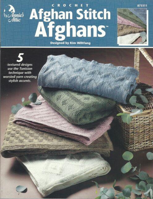Afghan Stitch Afghans Tunisian Crochet Patterns Kim Wiltfang Annies