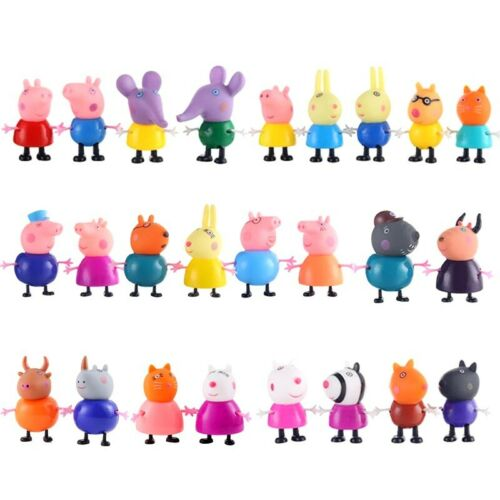 25Pcs//Set Peppa Pig Family/&Friends Emily Rebecca Suzy Action Figures Toys Gift