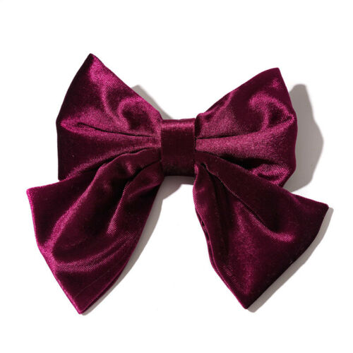 Women Big Bow Knotted Velvet Hair Clip Two Layer Butterfly Barrettes Hair Clip*