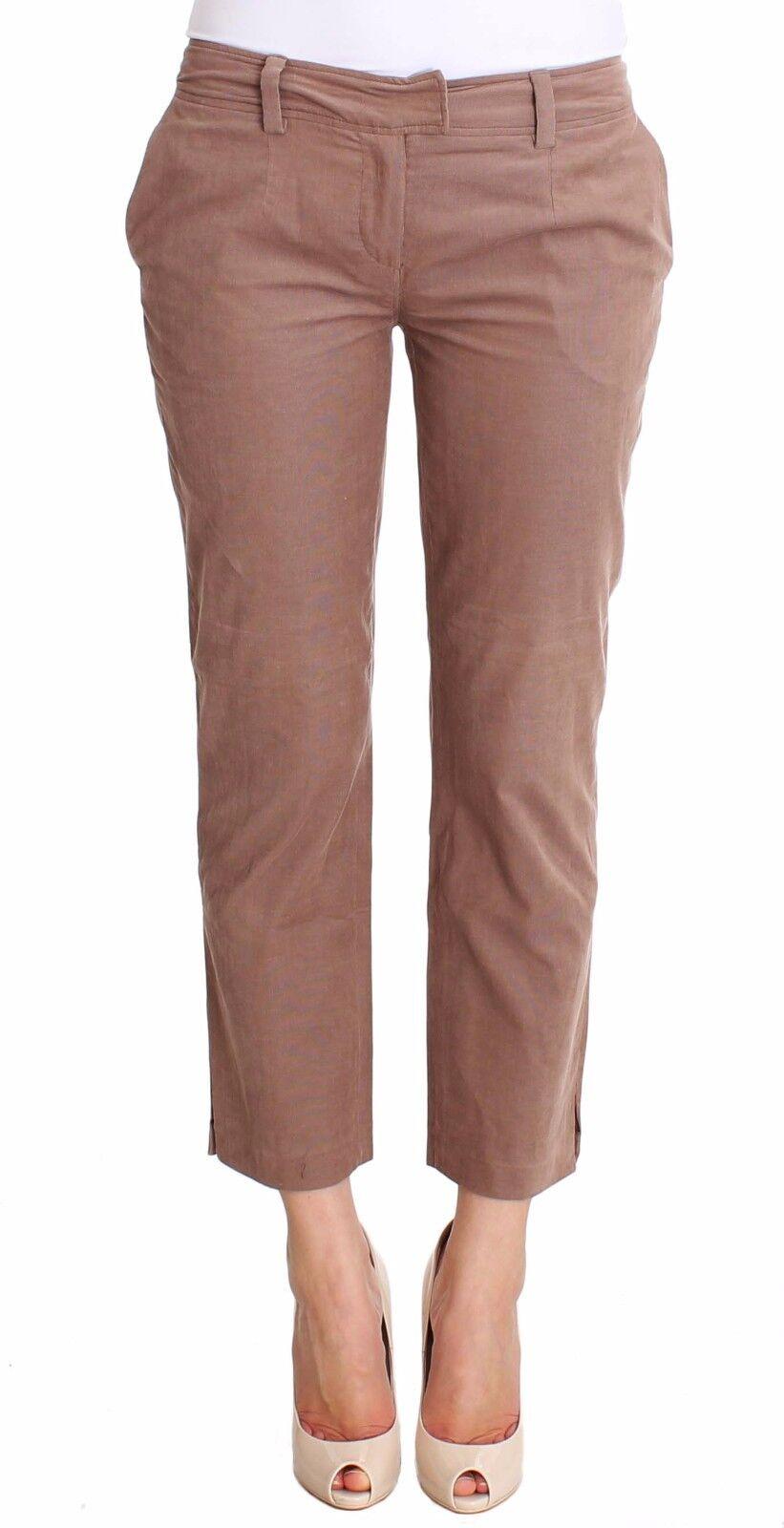 Nuova con Etichetta C e Costume National Pantaloni Marronee Corto Velluto a Coste