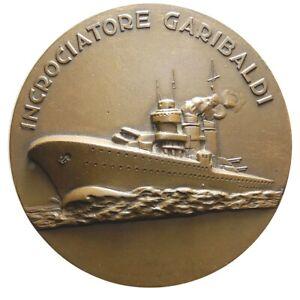 GéNéReuse Medaglia Messa Presumibilmente Nel 1945 Per Le Modifiche Incrociatore Garibaldi