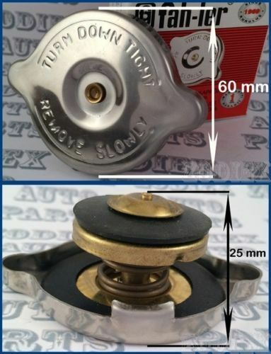 Polished Stainless Steel SAFETY Rad Radiator Cap 10lbs